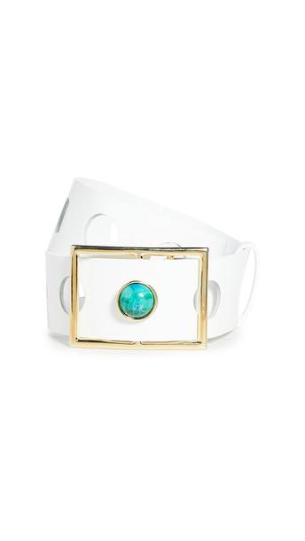 Rachel Comey Holika Belt in turquoise / white