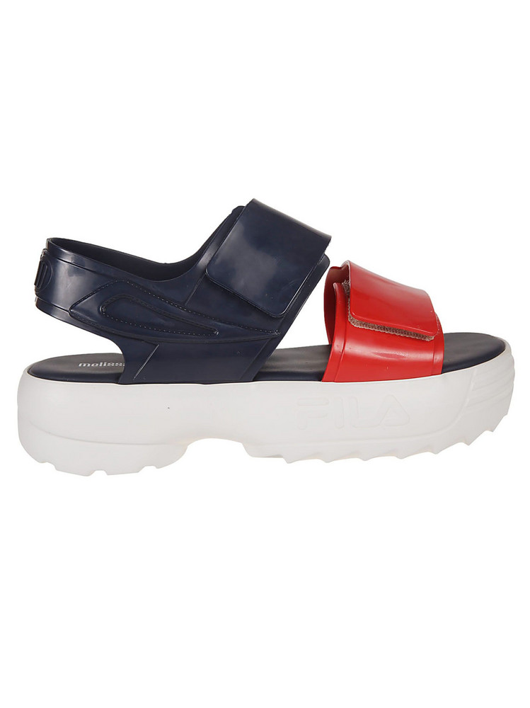 Melissa X Fila Classy Wedge Sandals in blue