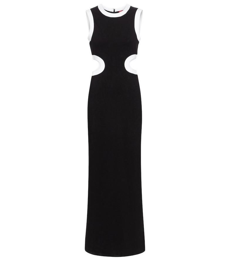 Staud Dolce cutout jersey maxi dress in black