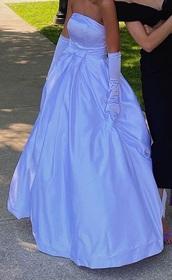 dress,prom dress,prom,prom gown,long prom dress,satin,satin dress,blue prom dress,white prom dress