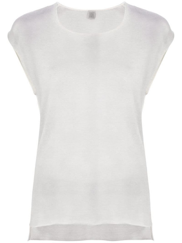 Eleventy round neck T-shirt in grey