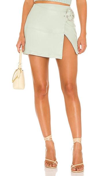 For Love & Lemons Talia Mini Skirt in Mint in green