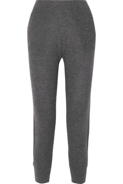 Skin - Marlowe Waffle-knit Wool-blend Track Pants - Charcoal