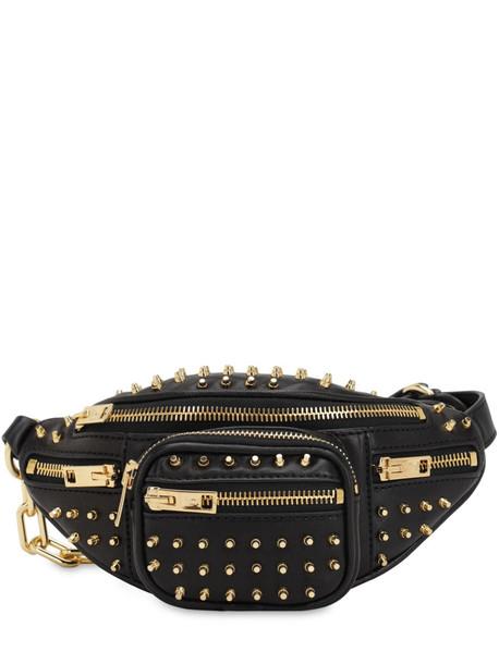 ALEXANDER WANG Mini Attica Embellished Leather Belt Bag in black