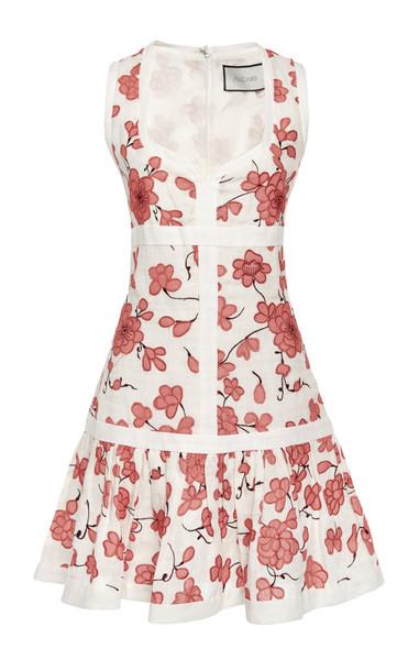 Alexis Lilou Printed Linen Mini Dress Size: XS