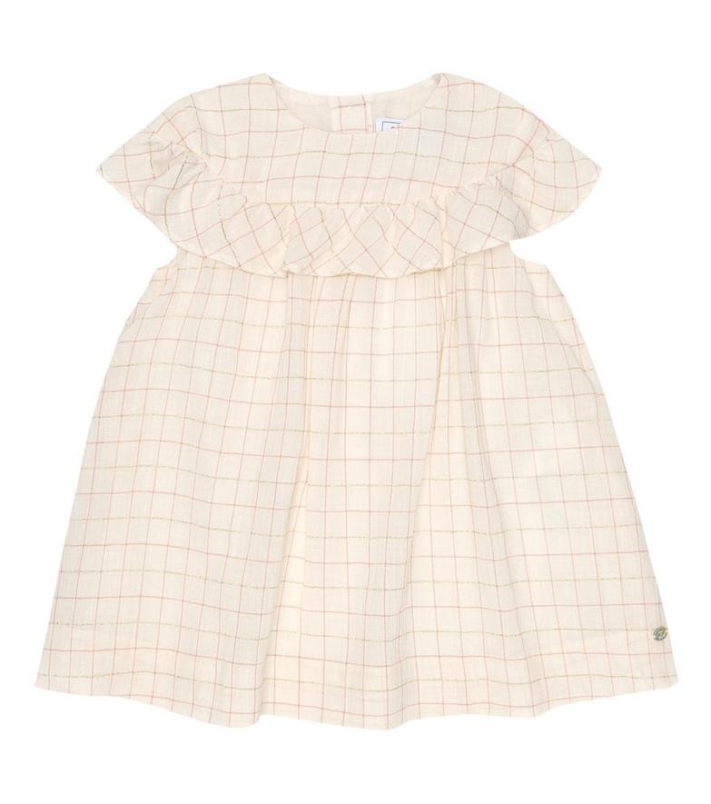 Tartine et Chocolat Baby checked cotton-blend dress in beige