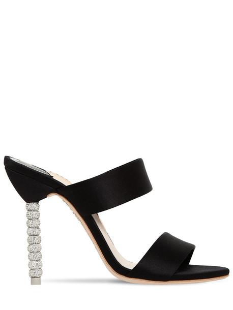 SOPHIA WEBSTER 100mm Rosalind Satin Embellished Mules in black