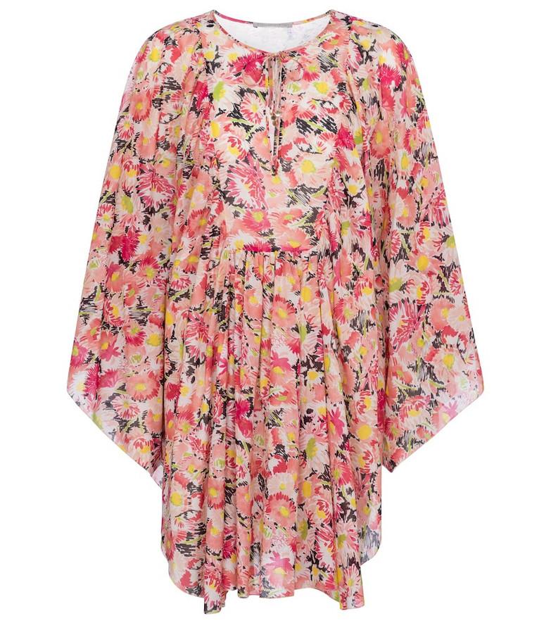 Stella McCartney Floral cotton kaftan in pink