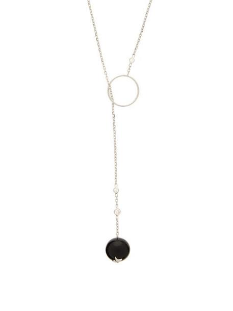 Raphaele Canot - Onyx & 18kt White Gold Necklace - Womens - Black
