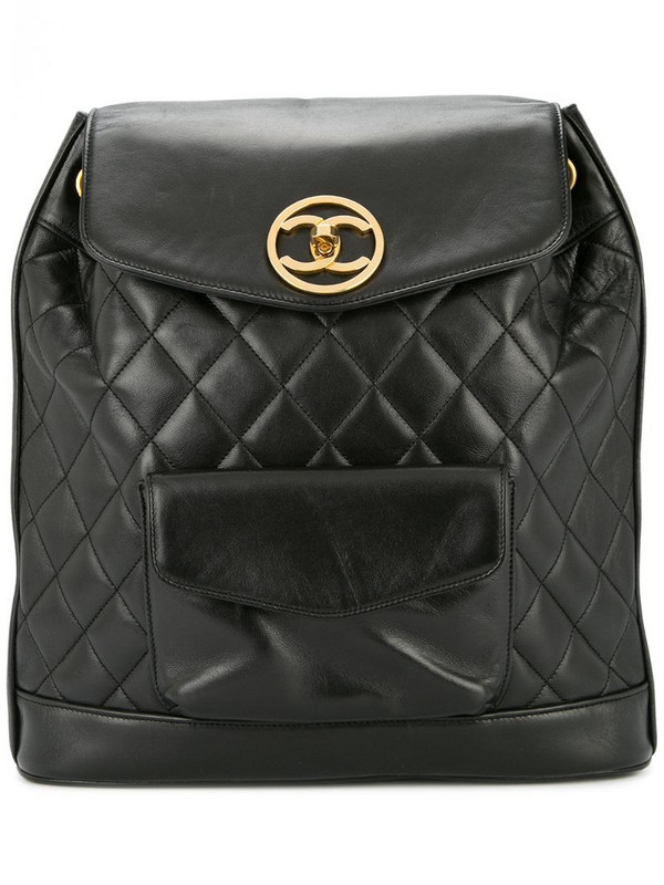 Chanel Pre-Owned 1991-1994 CC chain backpack in black