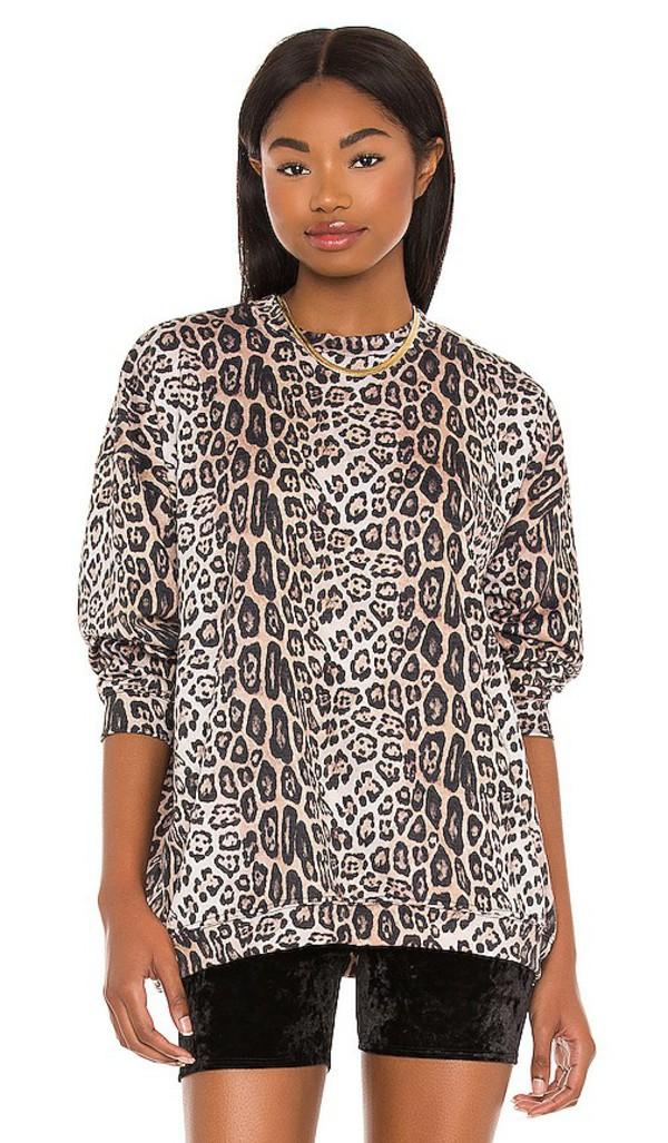 onzie x REVOLVE Boyfriend Sweatshirt in Brown in leopard
