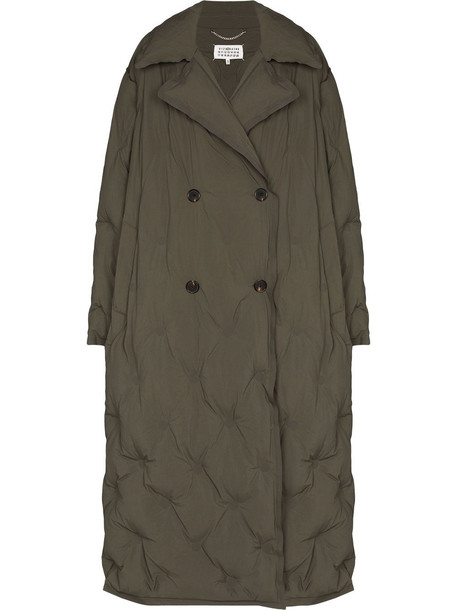 Maison Margiela quilted double-breasted coat - Green