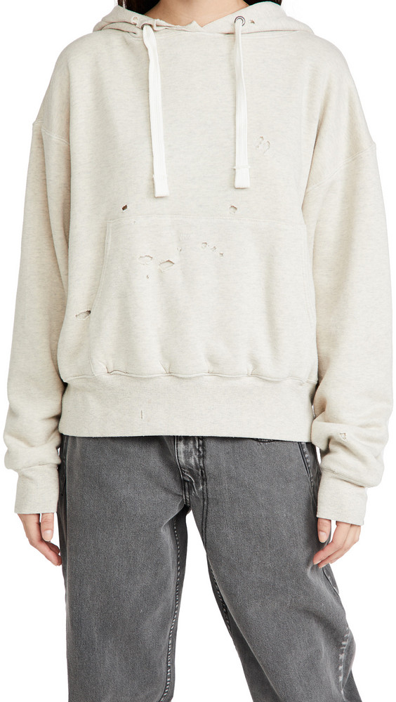 TRE by Natalie Ratabesi The Manny Distressed Sweatshirt in cream