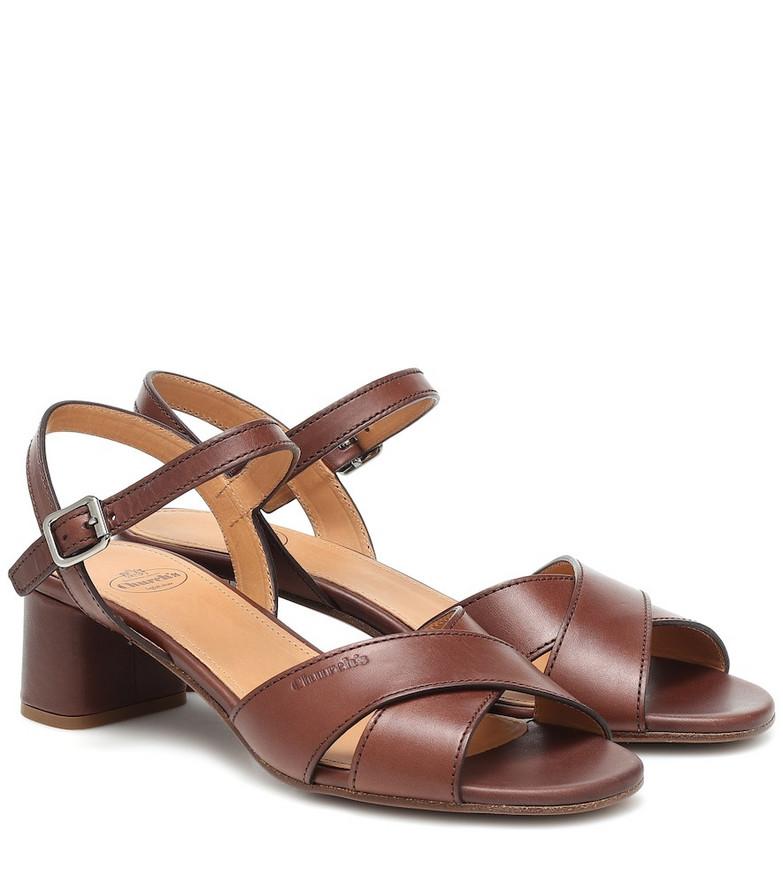 Church's Dolly leather sandals in brown