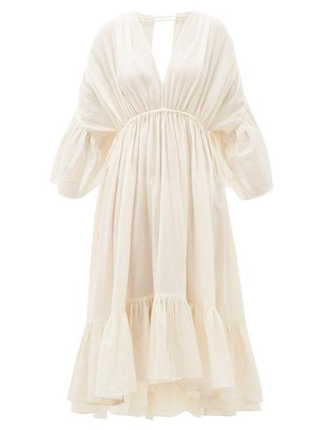 Loup Charmant - Sunrise Open-back Organic-cotton Dress - Womens - Ivory