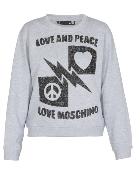 Love Moschino Love And Peace Sweatshirt in grey