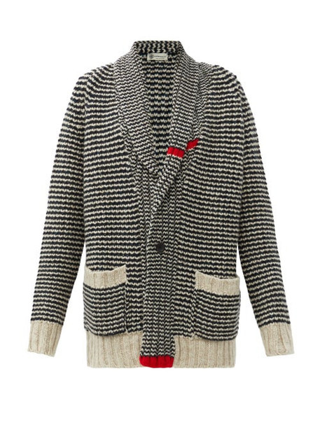 Connolly - Cappercaille Striped Cashmere Cardigan - Womens - Navy Multi
