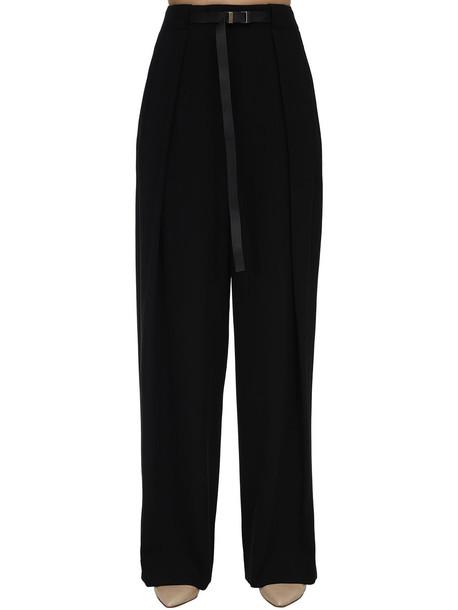 THE ROW Diagonal Virgin Wool Brona Pants in black