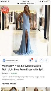 dress,baby blue