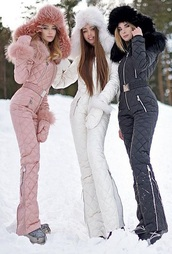 jumpsuit,ski suit,pink,skiing,winter outfits,winter look