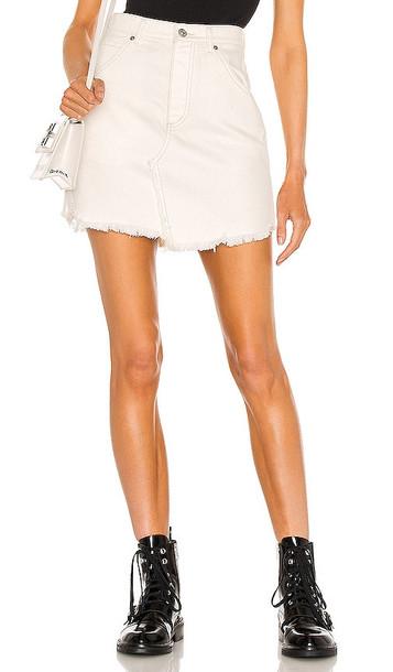 Free People Brea Cutoff Skirt in White