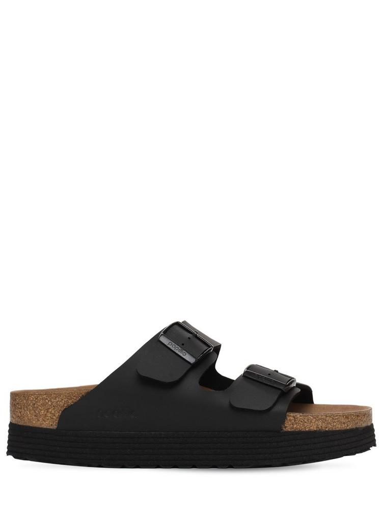 BIRKENSTOCK Papillo Faux Leather Platform Sandals in black