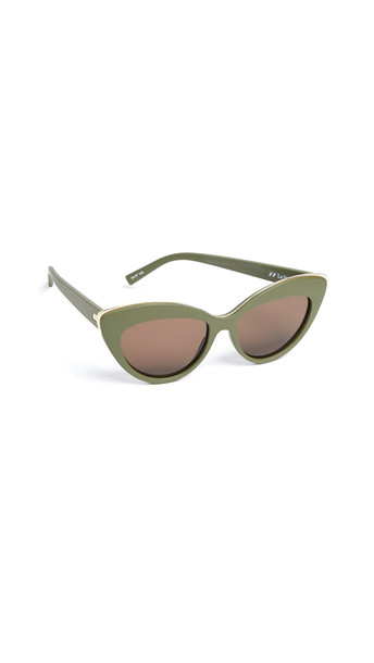 Le Specs Beautiful Stranger Sunglasses in brown / khaki