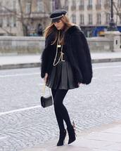 jacket,faux fur black jacket