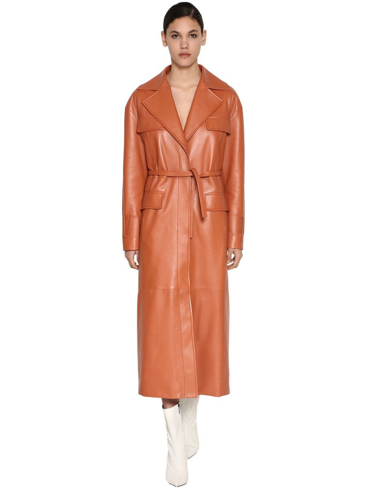 DROME Leather Trench Coat