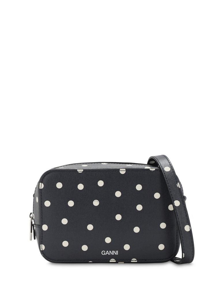 GANNI Leather Camera Bag in black