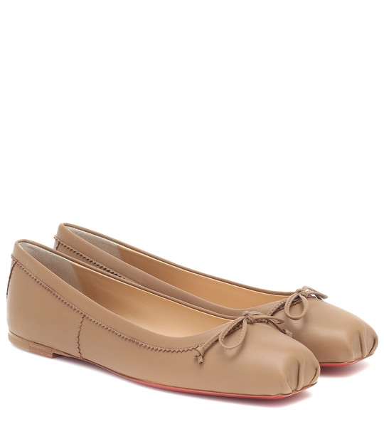 Christian Louboutin Mamadrague leather ballet flats in brown