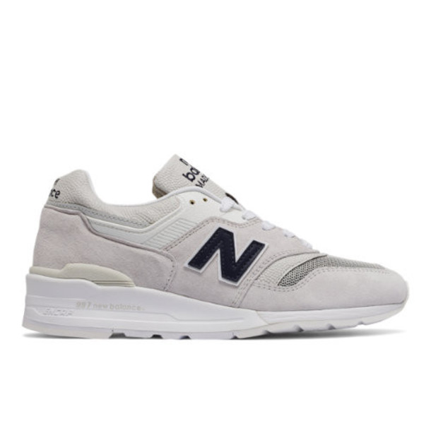 New Balance 997 Suede Men's Made in USA Shoes - Off White/Navy (M997JOL)