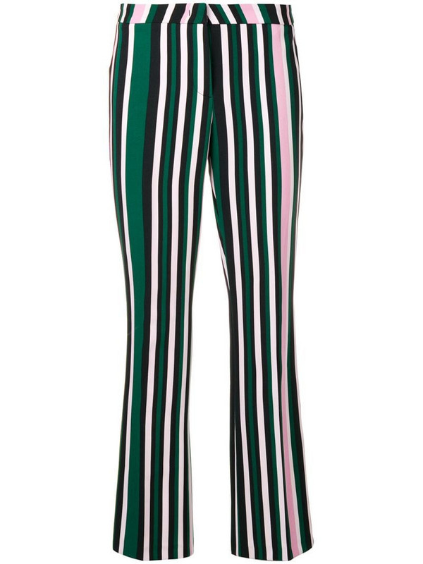Cambio striped trousers in green