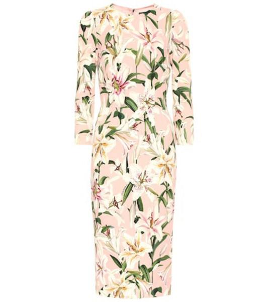 Dolce & Gabbana Floral cady-crêpe dress