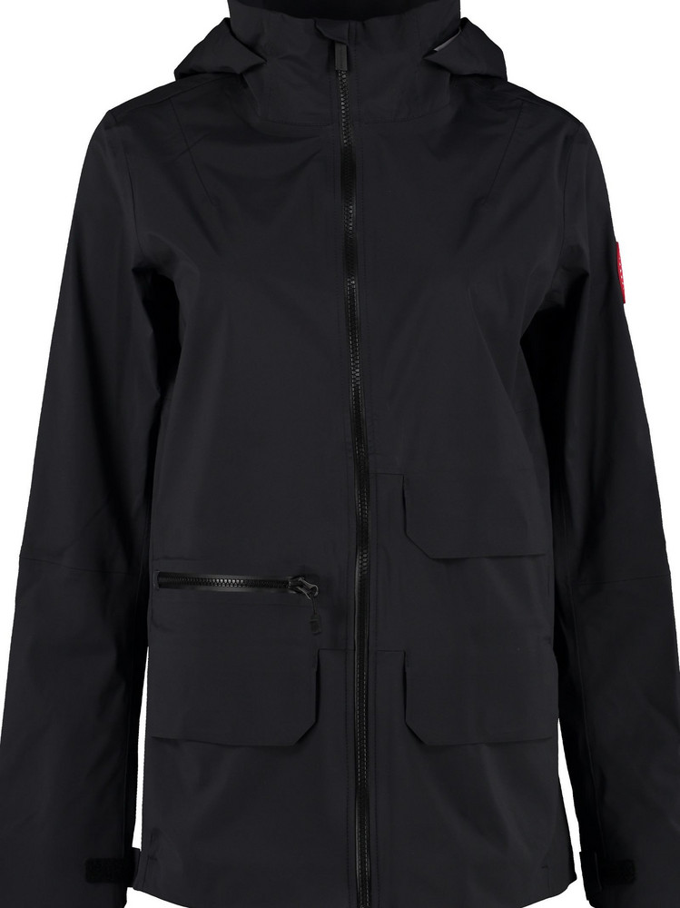 Canada Goose Pacifica Hooded Techno Jacket in black