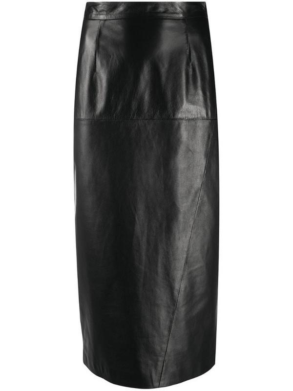 Simonetta Ravizza straight-fit midi skirt in black