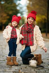 something delightful,blogger,cardigan,scarf,hat,tank top,jeans,bag,top