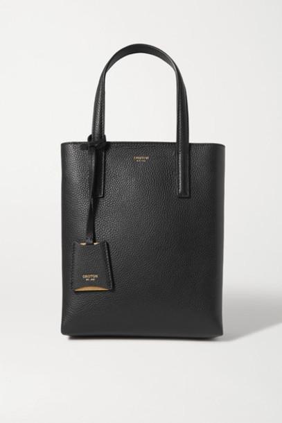 Oroton - Anouk Small Textured-leather Tote - Black
