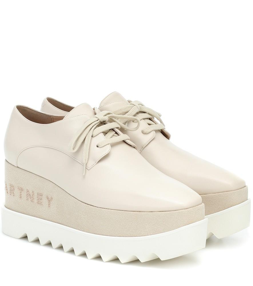 Stella McCartney Elyse platform Derby shoes in beige