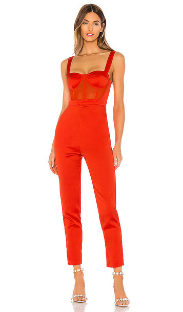 NBD Kailynn Jumpsuit in Red