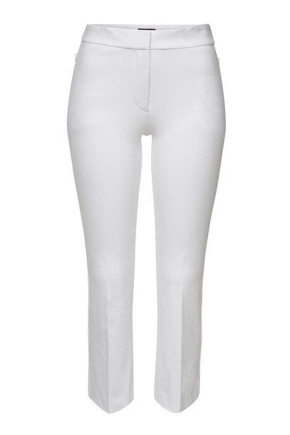 Theory Cropped Pants with Cotton  in white