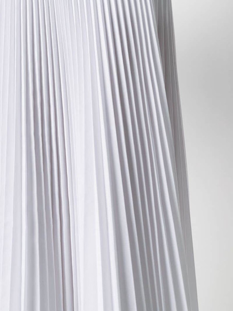 P.A.R.O.S.H. tie-waist pleated skirt in white