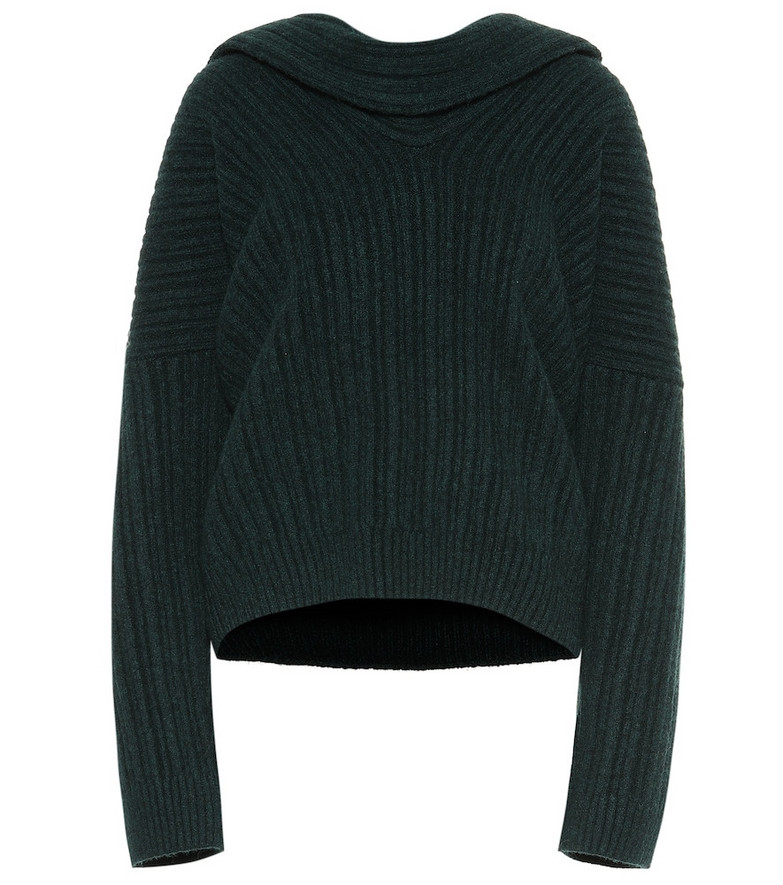 Jacquemus La Maille Ahwa wool-blend sweater in green