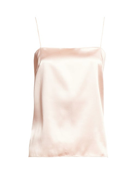 Alexandre Vauthier - Scoop Back Satin Cami Top - Womens - Light Pink