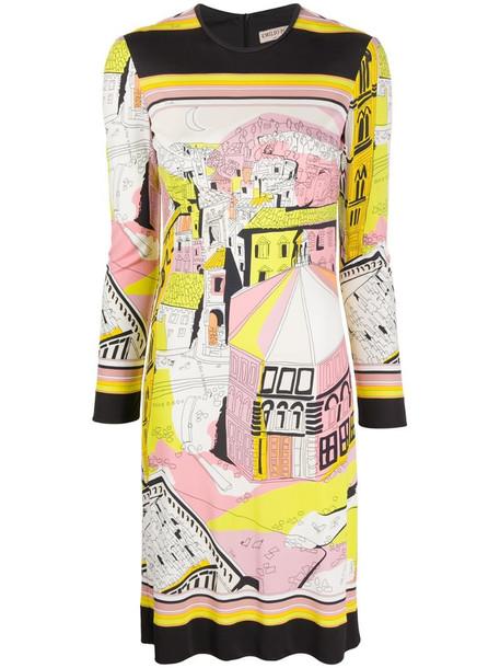 Emilio Pucci Battistero print dress in pink