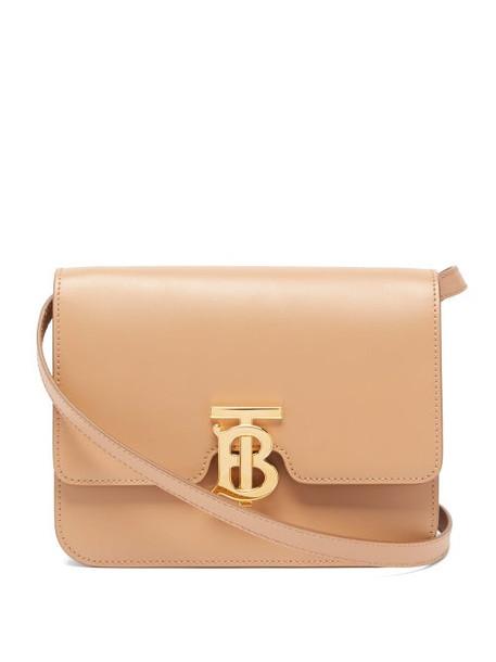 Burberry - Tb Monogram Small Leather Cross-body Bag - Womens - Beige