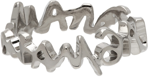 MM6 Maison Margiela Silver Signature Logo Ring