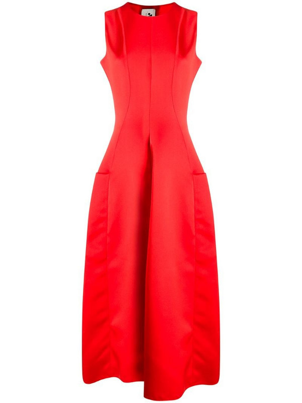 Maison Rabih Kayrouz fit-and-flare dress in red
