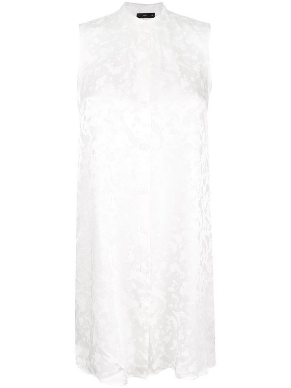 VOZ sleeveless fitted top in white