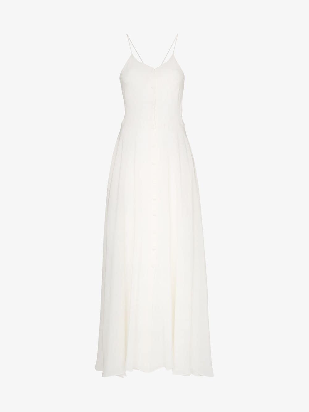 Deitas Olivia V-neck silk dress in white
